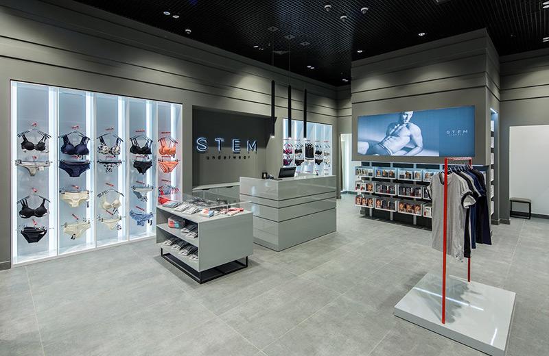 StemUnderwear - освещение магазина нижнего белья -2