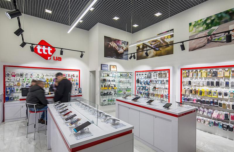 ttt - освещение магазина смартфонов и аксессуаров - 3