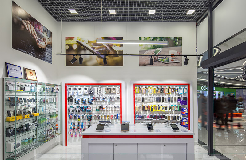 ttt - освещение магазина смартфонов и аксессуаров - 4