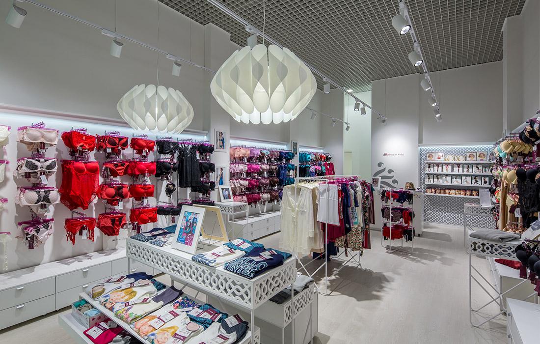 AnabelArto освещение магазина женского белья