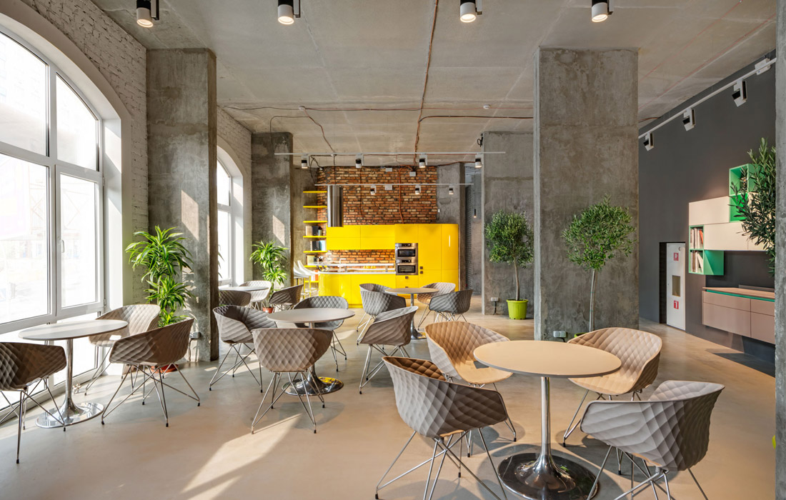 Cappuccino освещение мебельного салона