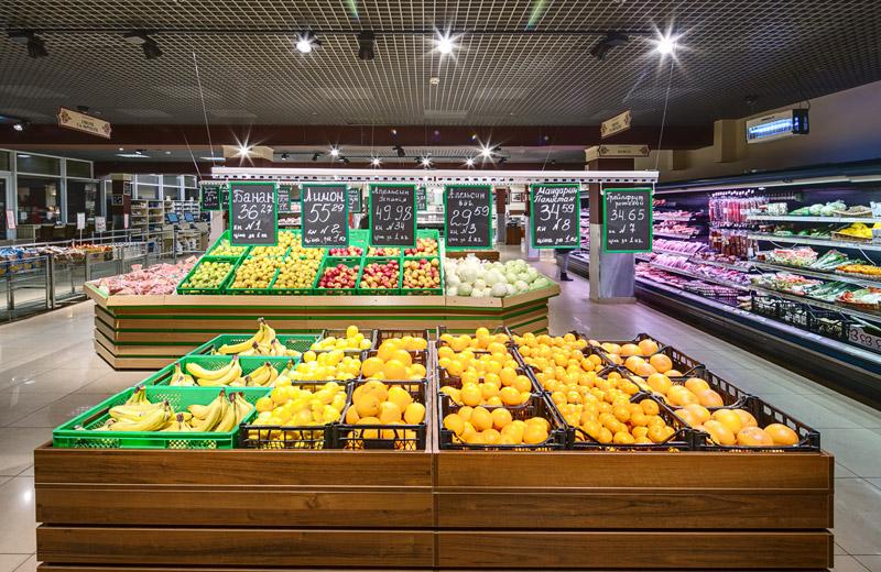 Kontinent - освещение магазина продуктов - 2