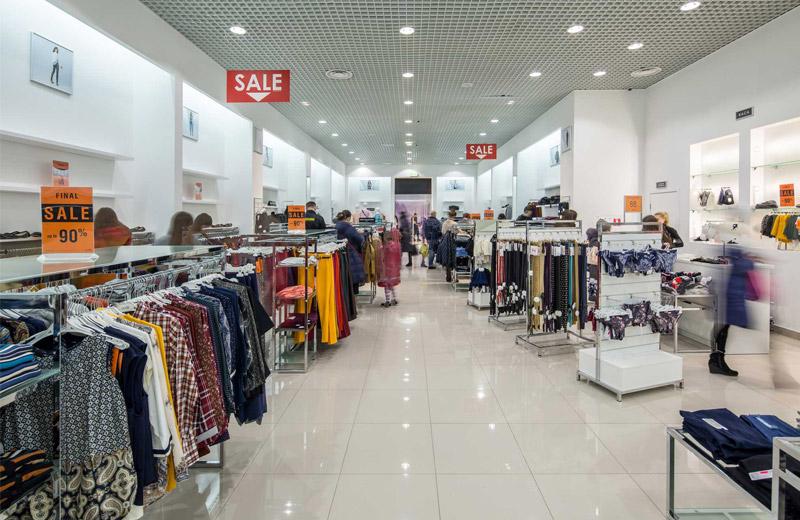 Oodji - освещение магазина одежды - 4