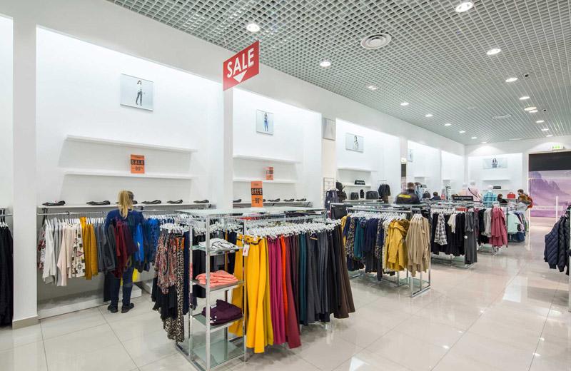 Oodji - освещение магазина одежды - 6