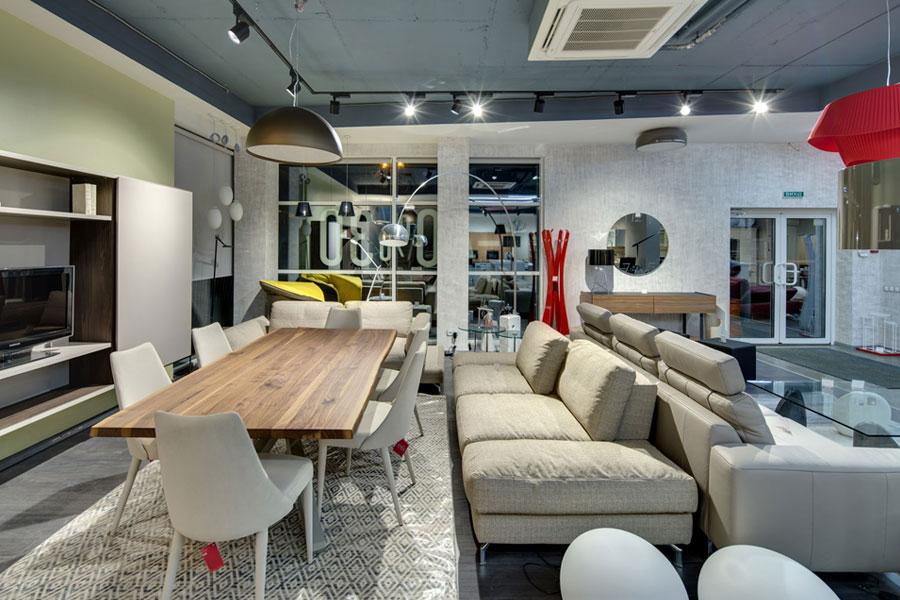 Освещение мебельных салонов
