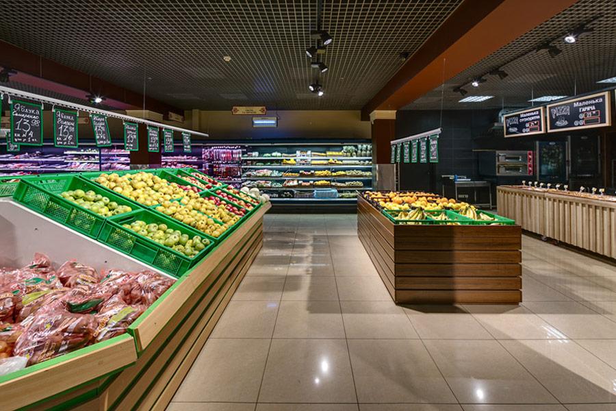 Освещение супермаркета