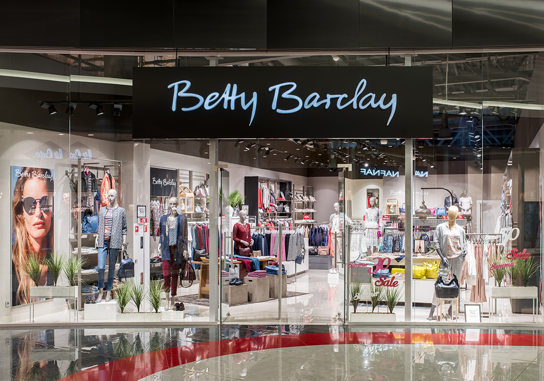 Освещение для магазина одежды - betty barclay