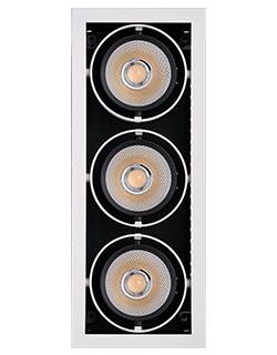 Врезной светодиодный светильник MINI SQUARE ELS134Rx3/36W