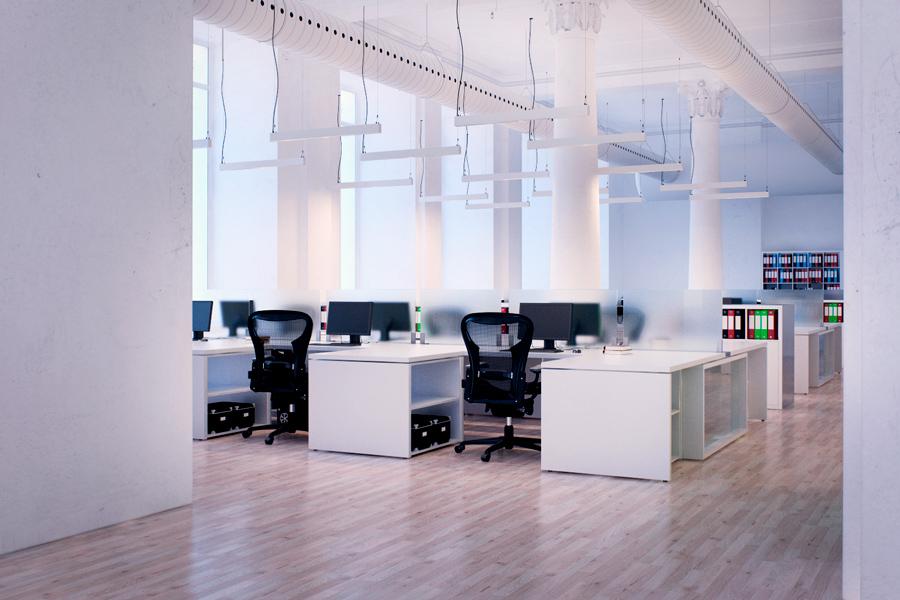 Офисное освещение линейными светильниками