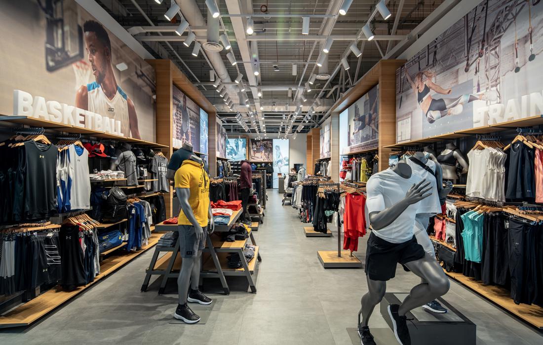 Освещение магазина спортивной одежды-1
