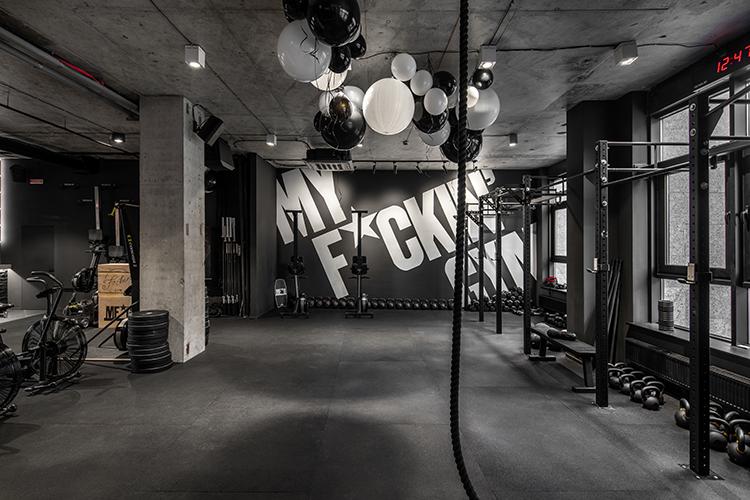 My F+ckin' Gym — Освещение для спортивного клуба